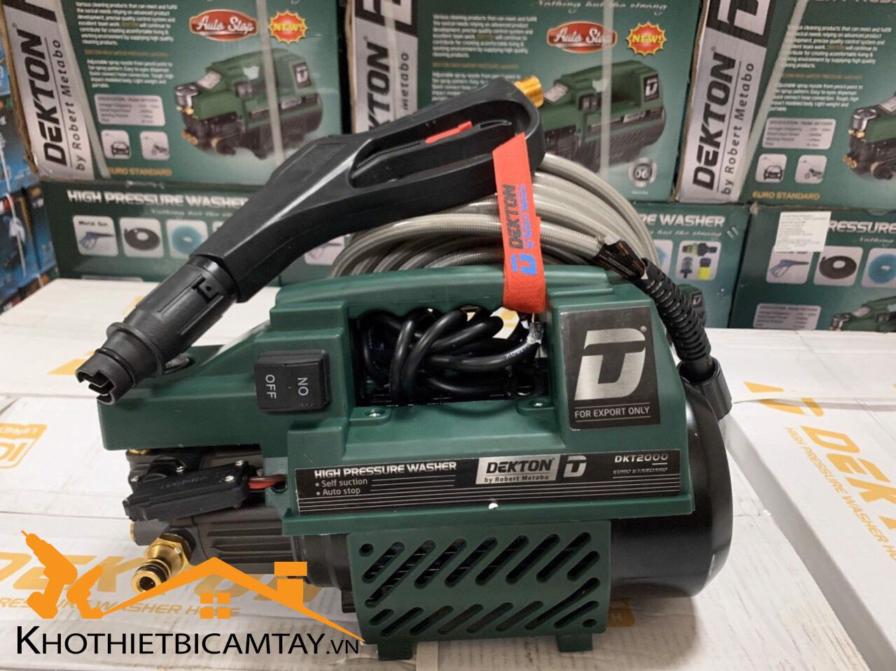 Máy xịt rửa cao áp DEKTON DKT2000
