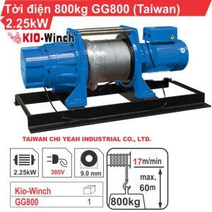 TỜI ĐIỆN 800KG KIO WINCH GG-800