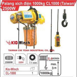 PALĂNG XÍCH ĐIỆN 1000KG KIO WINCH CL-1000