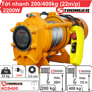 Tời nhanh Stronger KCD400
