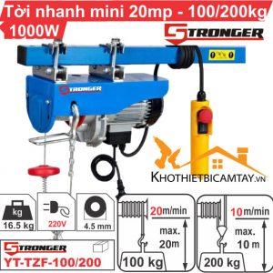 Tời điện nhanh mini STRONGER YT-TZF-100/200