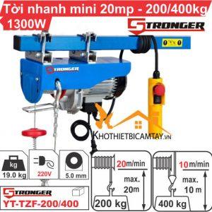 Tời điện nhanh mini STRONGER YT-TZF-200/400